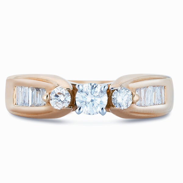 Classic 14k Yellow Gold 7/8ct TDW Diamond Engagement Ring (I-J, I1-I2)