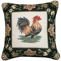 Rooster Needlepoint 18-inch Decorative Pillow