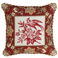 123 Creations Bird-Red Needlepoint 18-inch Decorative Pillow