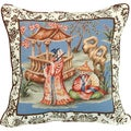 Chinoserie Needlepoint 20-inch Decorative Pillow