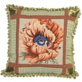 Poppy Needlepoint 20-inch Decorative Pillow