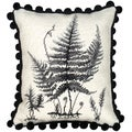 Fern Needlepoint Decorative Pillow