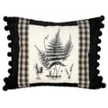 Fern Petit-Point Decorative Throw Pillow