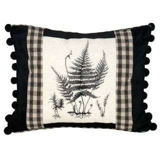 Fern Petit-Point Decorative Throw Pillow