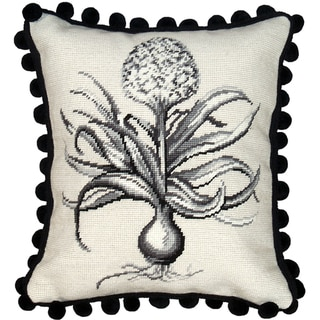 Hyacinth Needlepoint Decorative Pillow