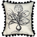 Hyacinth Needlepoint Decorative Pillow