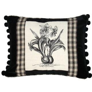 Orchid Petit-Point Decorative Pillow