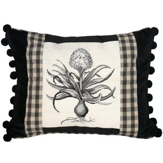 Hyacinth Petit-Point Decorative Throw Pillow