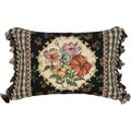 Hibiscus Petit-Point Decorative Throw Pillow