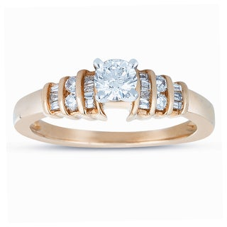 14k Yellow Gold 1/2ct TDW Diamond Engagement Ring (J-K, I1-I2)