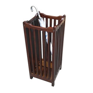 D-Art Mahogany Hardwood Finish Visalia Umbrella Stand