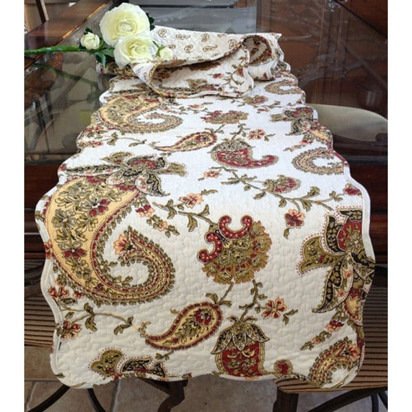 Table reviews Cotton Multicolored Runner runners Indes  Fleurs table des