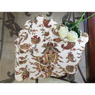 Paisley Quilted Cotton Placemats (Set of 4)