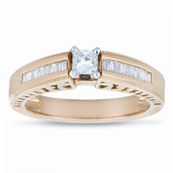 14k Yellow Gold 1/2ct TDW Diamond Engagement Ring (J-K, I1-I2)