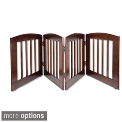 "Dynamic Accents 2 & 4 Panel 24"" Tall Wood Pet Gate"