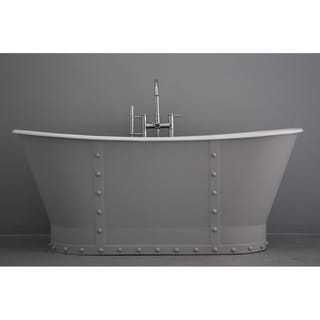 'The Abingdon' from Penhaglion 68-inch Cast Iron French Bateau Bathtub