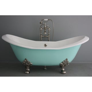 'The Dunstable' from Penhaglion 72-inch Cast Iron Double Slipper Bathtub