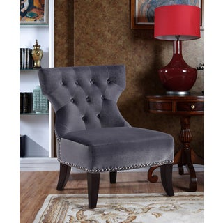 Waterloo Grey Tufted Accent Chair