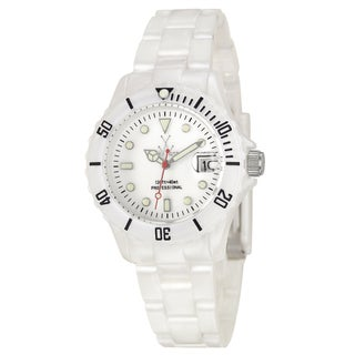 Toywatch Women's 'Plasteramic' White Quartz Watch