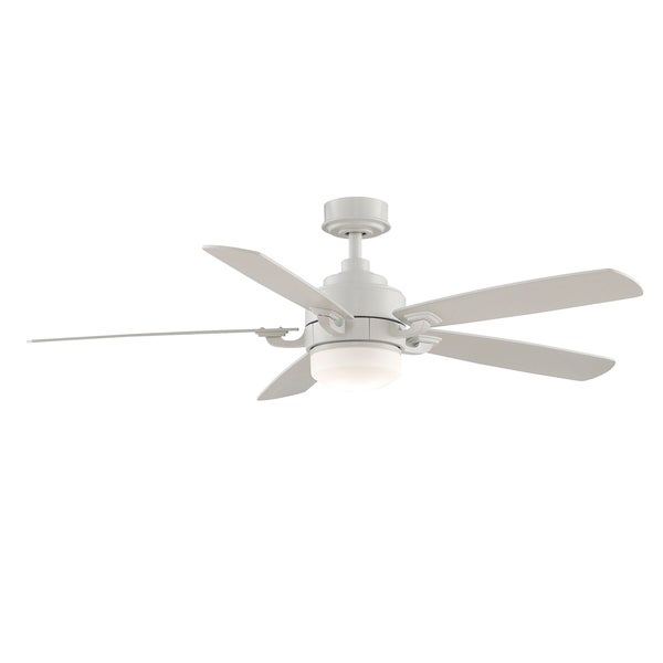 Fanimation Benito 52-inch Matte White 1-light Ceiling Fan