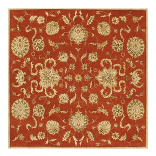 Hand-made Alliyah Delhi Rust/ Gold New Zealand Wool Rug (8' Square)