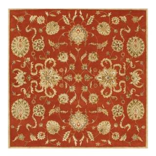 Alliyah Handmade Rust New Zealand Blend Wool Rug (8' Square)