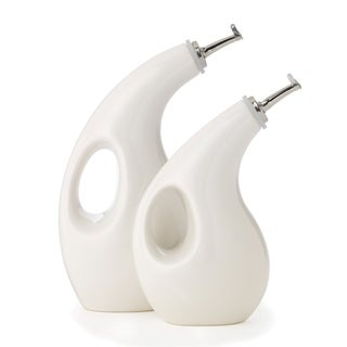 Rachael Ray White EVOO & Vineger 2-Piece Stoneware Set