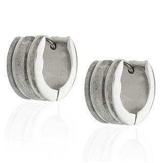Moise Stainless Steel Satin Cuff Earrings