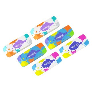 Westcott Splat Smudge-Free Latex Free Erasers (Pack of 6)