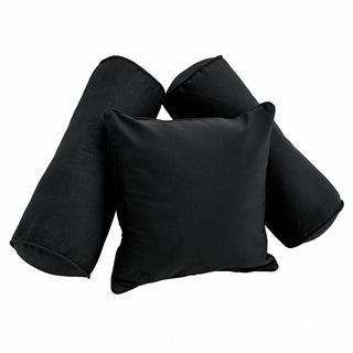 Blazing Needles Twill Pillow Set (Set of Three)