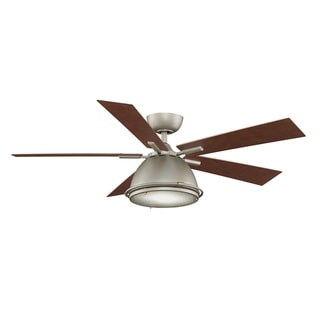 Fanimation Breckenfield 52-Inch Satin Nickel 1-Light Ceiling Fan