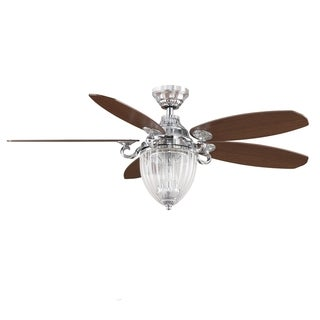 Fanimation Stonehill 52-Inch Chrome 3-light Ceiling Fan