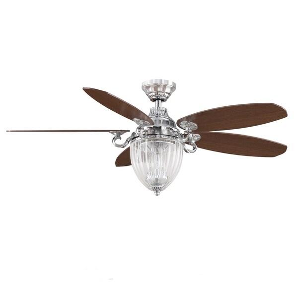 Fanimation Stonehill 52-Inch Chrome 3-light Ceiling Fan