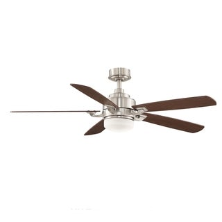 Fanimation Benito 52-inch Brushed Nickel 1-light Ceiling Fan