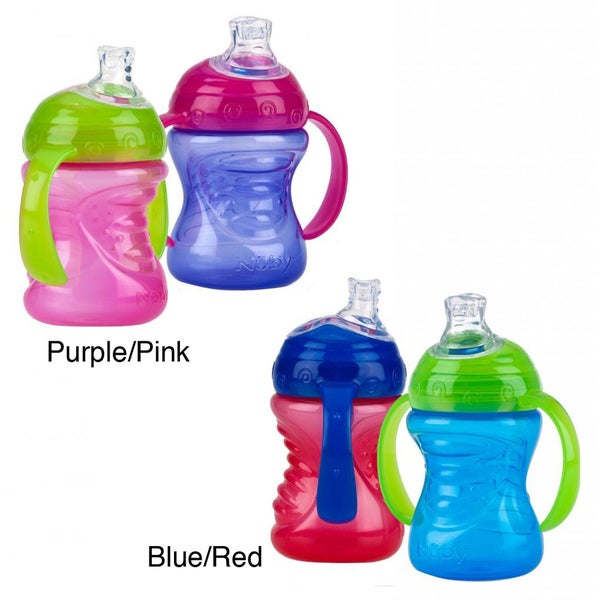 Nuby 8-ounce 2-Handle No-Spill Super Spout Cup (Pack of 2) 10865923
