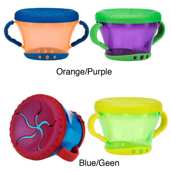 Nuby 9-ounce Snack Keepers (Pack of 2)