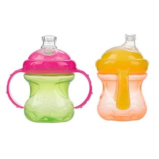 Nuby 8-ounce No-Spill Cup with Super Spout (Pack of 2)