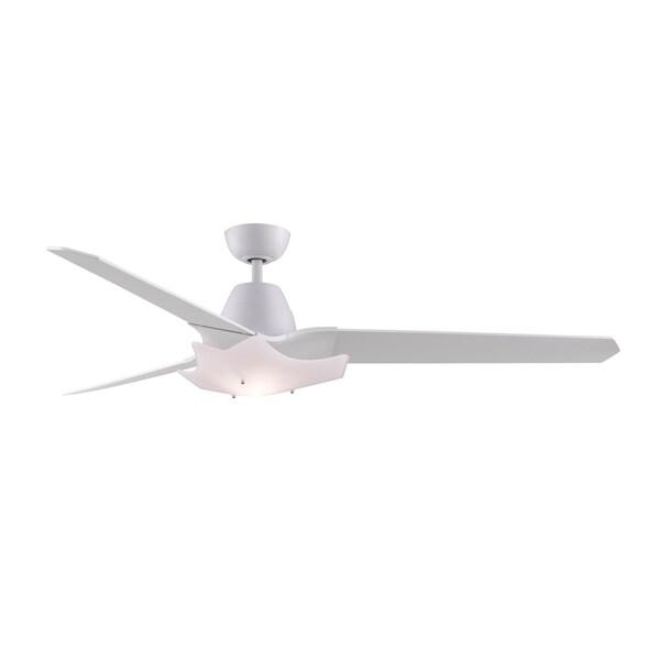 Fanimation Wylde 72-inch Matte White 2-light Ceiling Fan