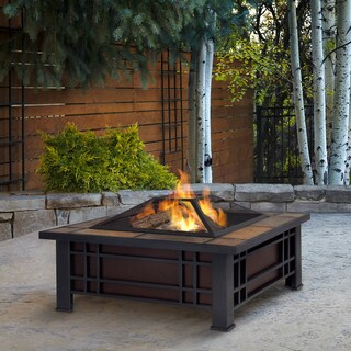 Real Flame Morrison 33.6-inch Outdoor Fire Pit