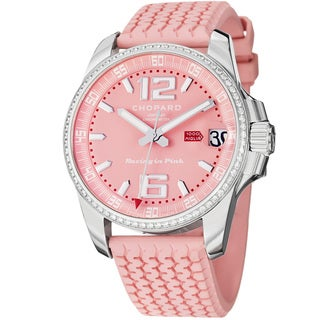 Chopard Women's 178997-3001 'Miglia' Pink Diamond Dial Rubber Strap Watch