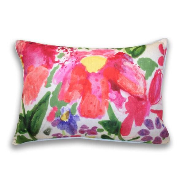 Carolina Floral 14x20-inch Throw Pillow