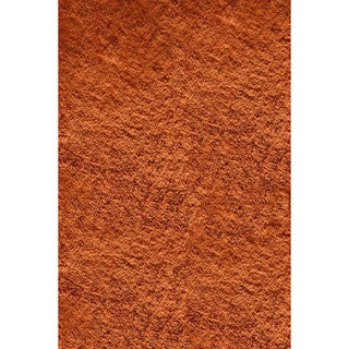 Hand-tufted Posh Orange Shag Rug (2' x 3')