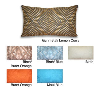 Thro 12x20-inch Alexa Embroidered Pillow