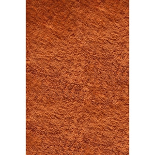 Hand-tufted Posh Orange Shag Rug (8' x 10')