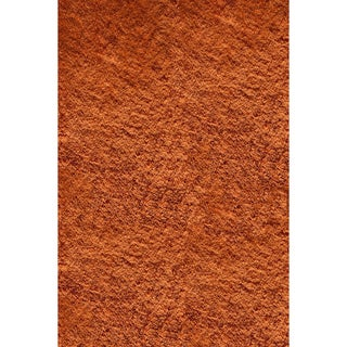 Handmade Posh Orange Shag Rug (5' x 7')