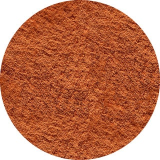 Hand-tufted Posh Orange Shag Rug (4' Round)