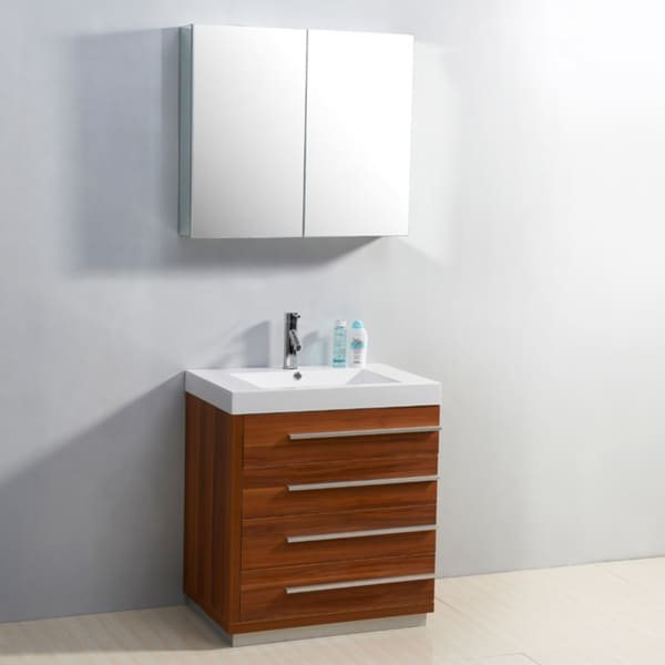 bailey 30 inch single sink 4 drawer vanity set 15257082 overstock