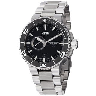 Oris Men's 743 7664 7154 MB 'TT1 Diver' Black Dial Stainless Steel Automatic Watch
