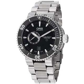 Oris Men's 'TT1 Diver' Black Dial Stainless Steel Automatic Watch