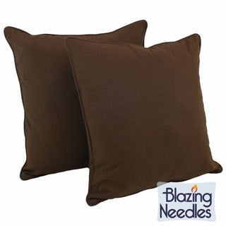 Blazing Needles 25-inch Twill Floor Pillows (Set of 2)